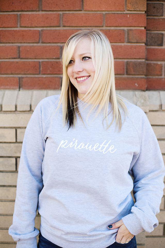 Pirouette dancelove Crewneck Sweatshirt.