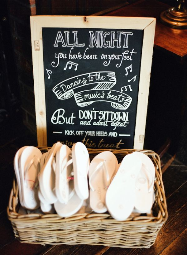 The saying on the chalkboard is really cute... I guess I could just use a basket for the flip flops.