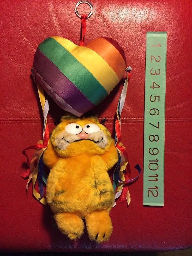 Garfield 1978 1981 Vintage Stuffed Plush Dakin Cute 80s Hanging Wall Rainbow | eBay