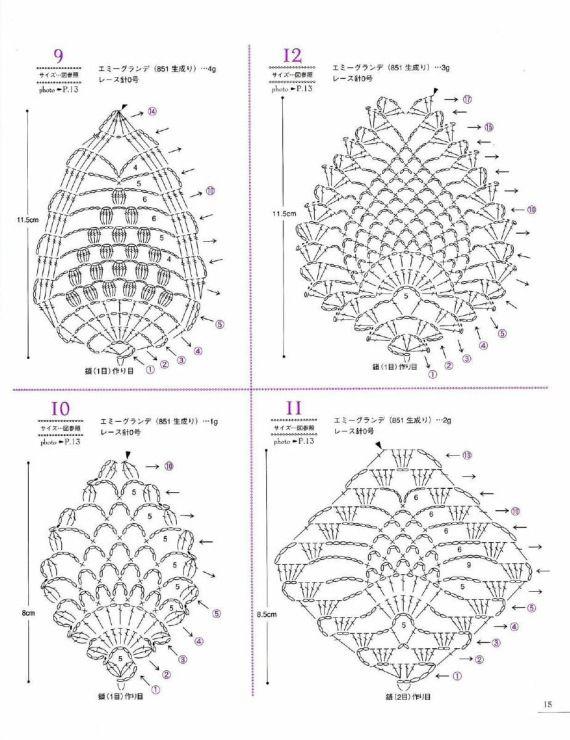 Gallery.ru / Foto # 16 - Lacework ananas pattern - Accessori
