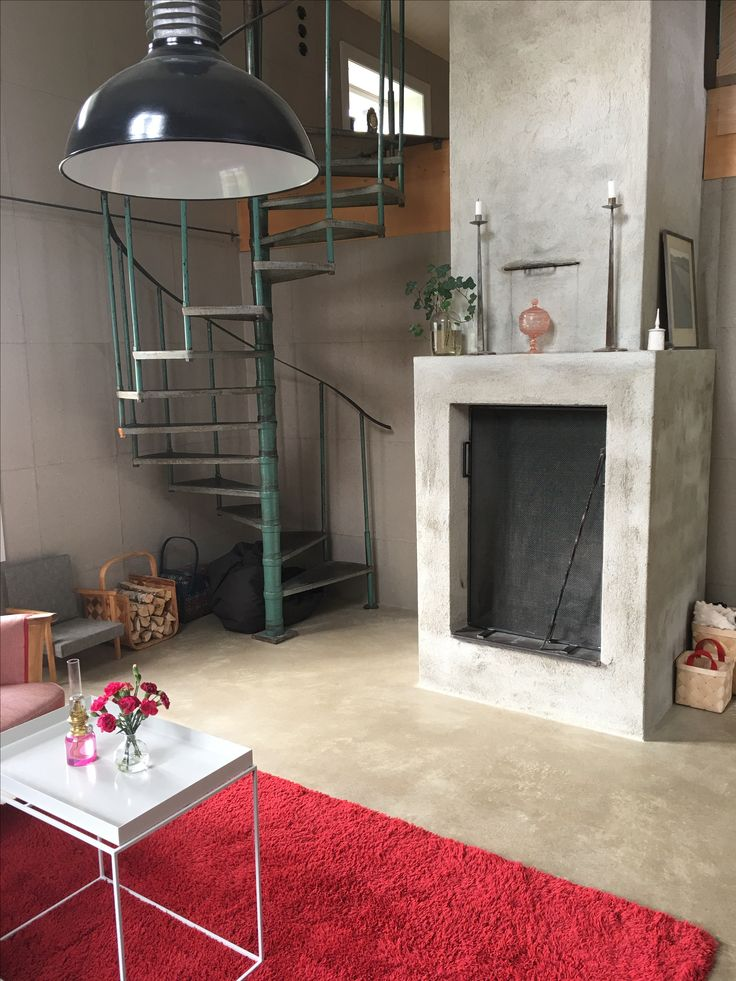 I'm so glad that we found an old staircase for our living room #interior