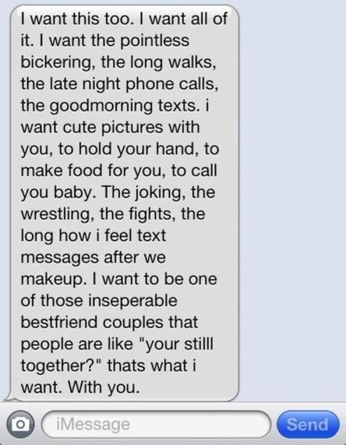 Cute Text Messages - I Want This❤ Relationships Goals Love