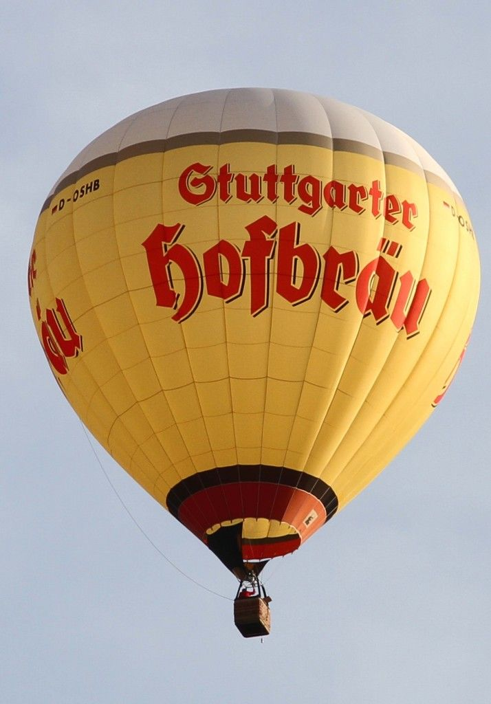 D-OSHB, Schroeder Fire Balloons G-34-24, 20.07.2013, über dem Meilenwerk in Sindelfingen / Böblingen, Germany
