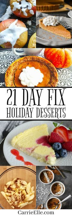21 Day Fix Holiday Dessert Recipes
