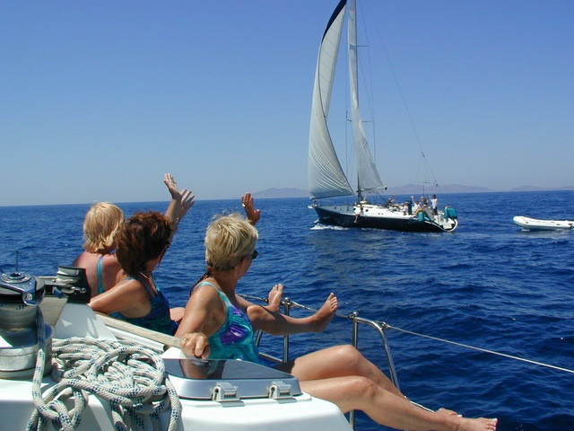 Sailing in company:   Greek Dodecanese islands.  Always good social fun !
