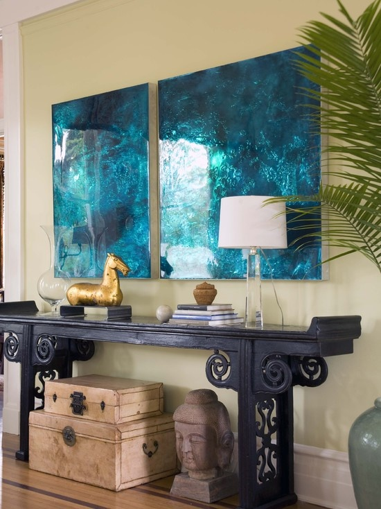 love the console and art! (Living Room Design, Pictures, Remodel, Decor and Ideas - page 72)