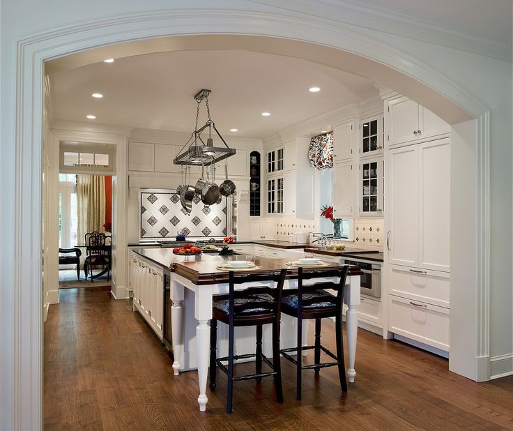 French Country Kitchen Traditional with White Cabinets Transitional Specialty Appliances
