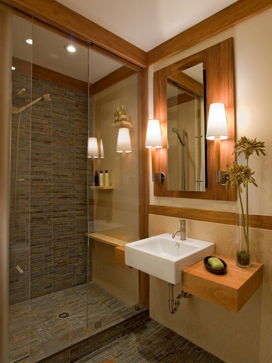 Modern craftsman bathroom renovation pinterest for Contemporary bathroom remodel
