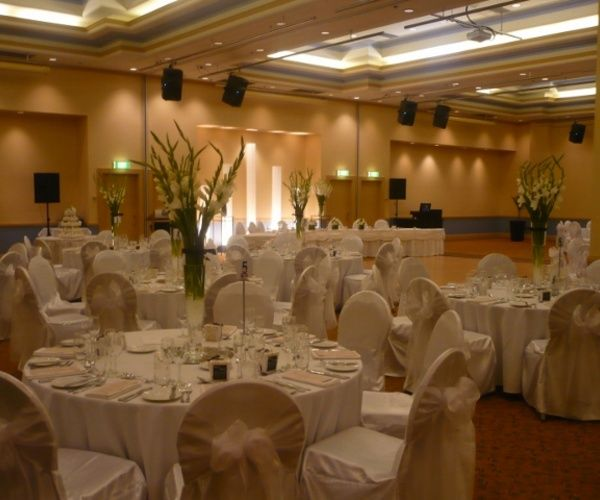 Grand Chancellor main function room all set up for your wedding, just one of our exhibitors
