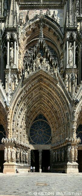 Cathedral de Notre Dame de Reims, France. Built in the early 1200s.                                                                                                                                                      More