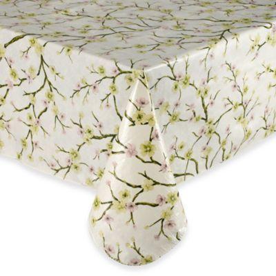 Buy Cherry Blossom 52 Inch X 70 Inch Vinyl Tablecloth From Bed Bath U0026