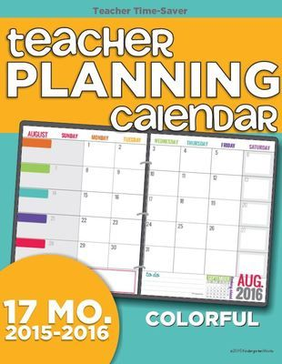 Teacher Calendar Template. I Love This Bright And Colorful