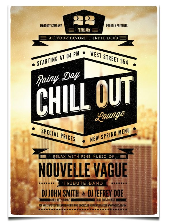 Chill Out Flyer/Poster Template by moodboy