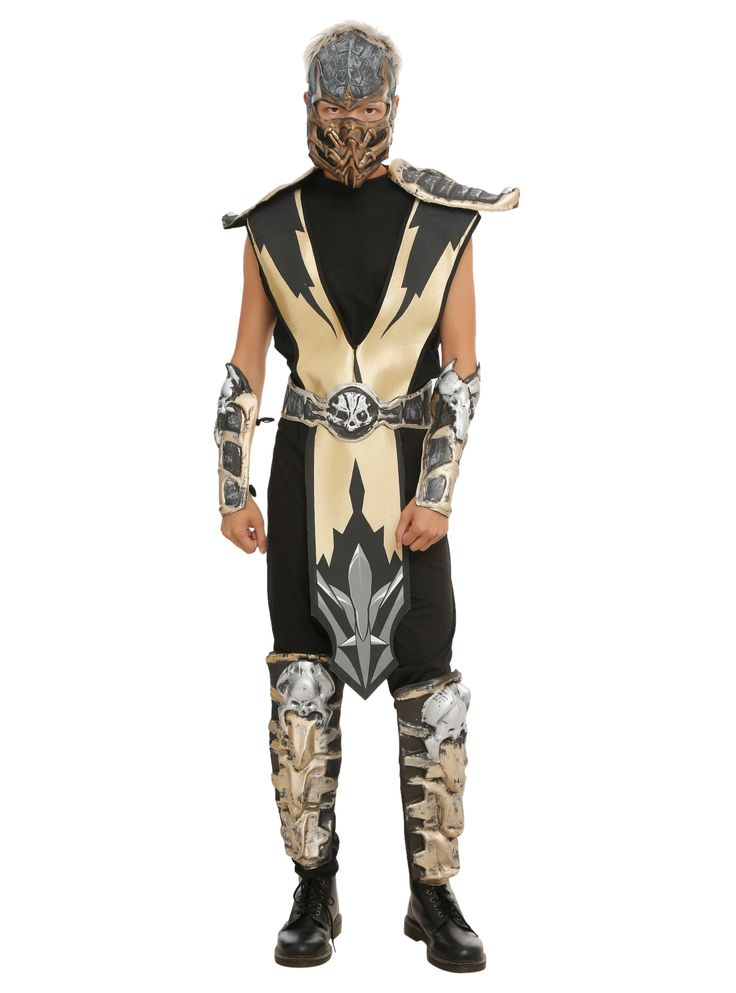 check it out our mortal kombat scorpion costume hey