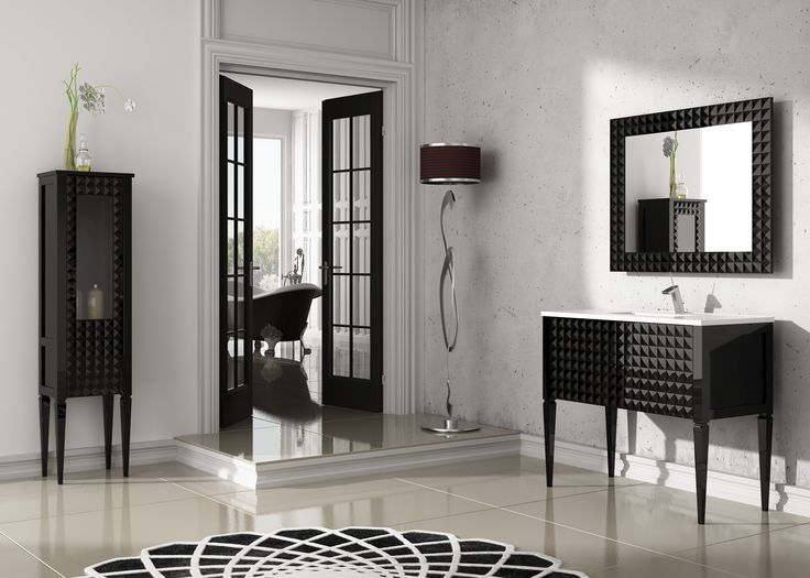 """Diamond bathroom vanity 40"""". White gloss. Dimensions are available in 24,32 and 40 inch width.Countertop options: tempered glass in 10 different colors and Porcelain glass in White. (VANITY + PORCELAIN GLASS COUNTERTOP + MIRROR)"""