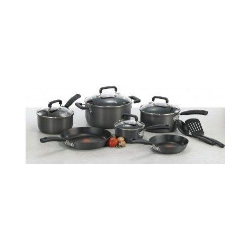T-Fal-Cookware-Pots-Pans-Non-Stick-Set-Heat-Indicator-12-Piece-Fry-Saute-New