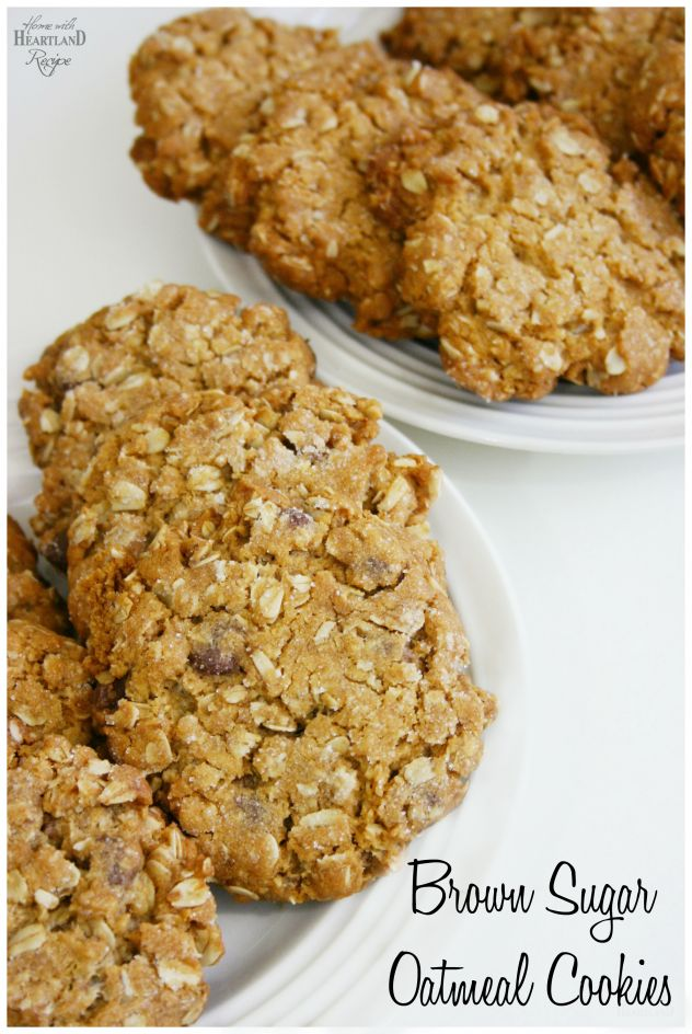 Delicious Brown Sugar Oatmeal Cookies (with or without Chocolate Chips) Yummy!!