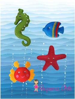 Animais marinhos em Feltro: Kids Quiet Books, Arts, Feltre Condition, Book Ideas, Handmade Books