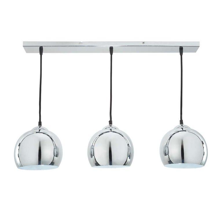 Suspension triple en aluminium brossé D 70 cm TRIO