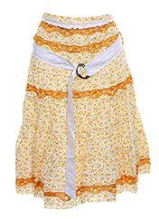 Des Filles A La Vanille Jupes Mi Longues Femme de couleur orange en soldes pas cher 438070-orange - Modz