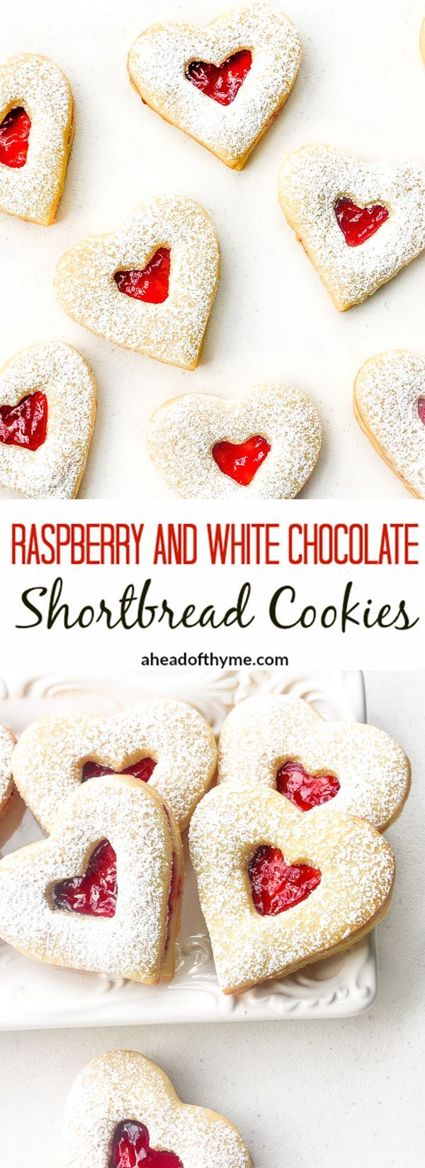 Raspberry and White Chocolate Shortbread Cookies: This Valentine's Day, surprise…