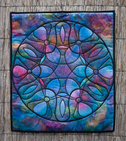 Stained glass window quilt by Leny Huneman (The Netherlands) | Quilt-Galerie Terschelling