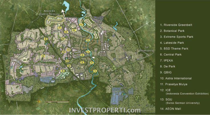 Peta lokasi Greenwich Park BSD City.