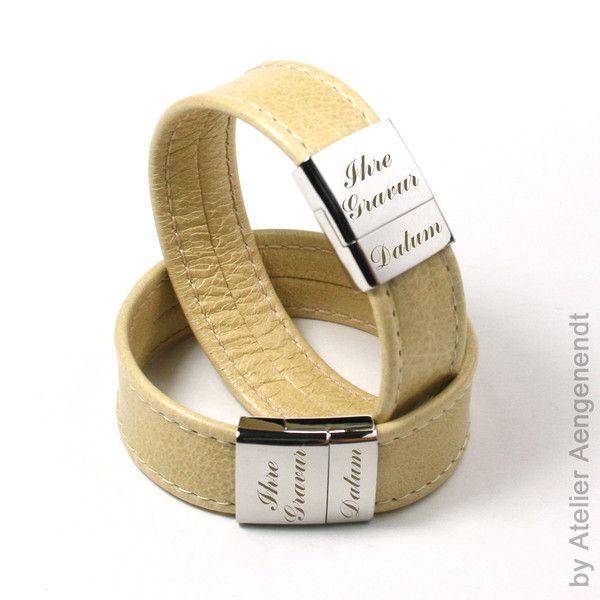 Armbänder - LA-N (N) Partnerarmband Armband Schmuck mit Gravur - ein Designerstück von Fotoschmuck24 bei DaWanda