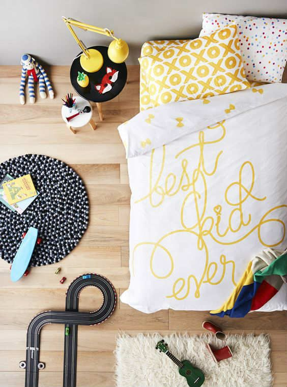 Fun yet sophisticated quilt cover set | 10 Fun & Loony Bed Linen - Tinyme Blog