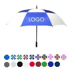 "Wind-Vented Automatic Golf Umbrella (60"" Arc) Single pc $16.50 + set ups."