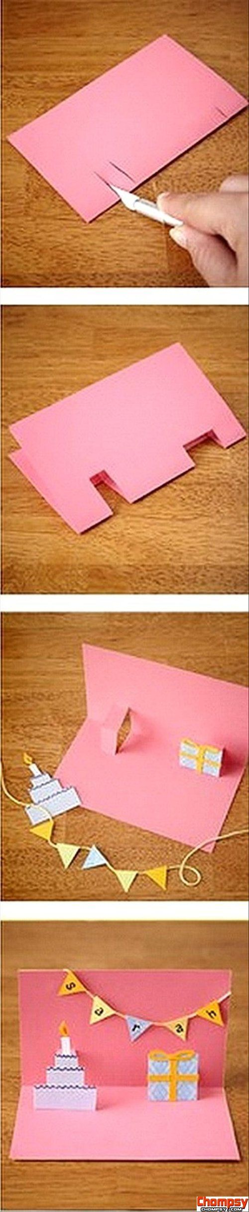 make pop out birthday card fun crafts