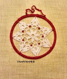PALLINE di NATALE all'UNCINETTO - CROCHET CHRISTMAS DECORATIONS #natale #christmas  #crochetaddict #bead #beading #craft #creatività #creativity #crochet #crochetart #crochetlove #DIY #handcrafted #handmade #uncinetto #perline #VeroVero88