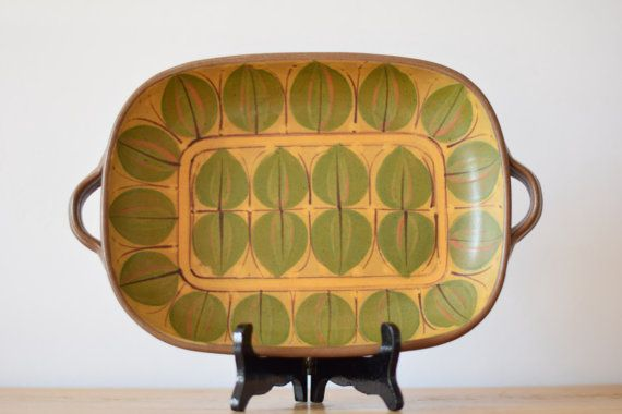 Dybdahl Denmark  big tray  size 2  leaf decor  by danishmood