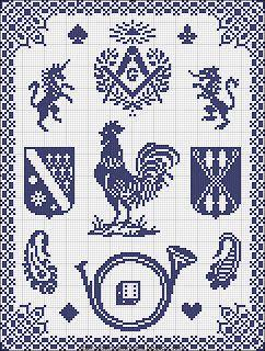 Free Easy Cross, Pattern Maker, PCStitch Диаграммы + Free Исторический старый шаблон книги: Sajou Нет 290