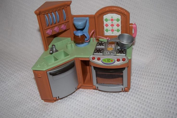 Fisher Price Loving Family Dollhouse Kitchen Lights Sounds Stove Oven Dishwasher Fisherpricemattel