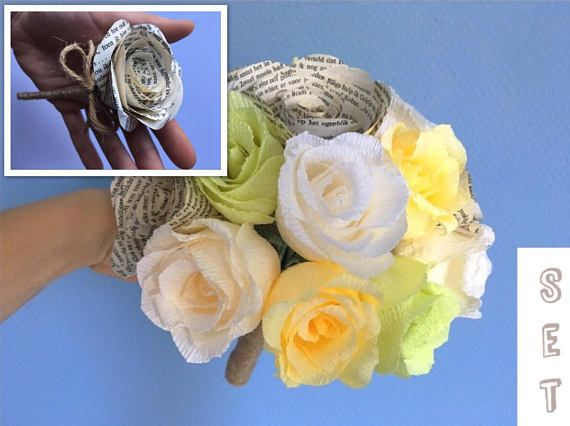 Beautiful bride bouquet paper flowers