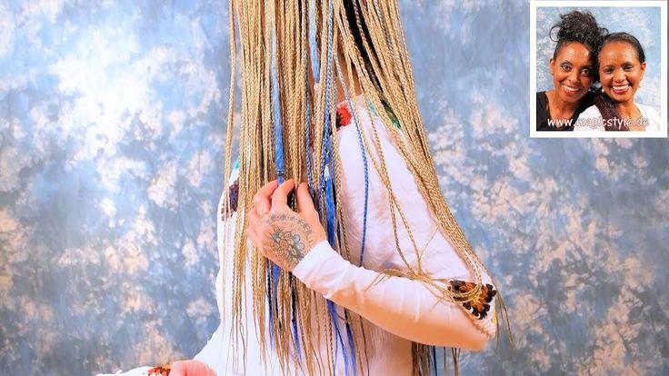 Steffi: Feine, blonde Rastazöpfe & Ombre Dreads in zartem blond-hellbau ...