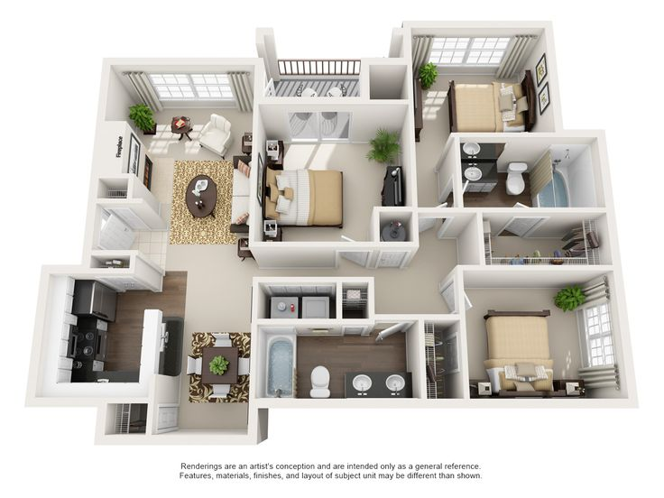 One Two And Three Bedroom Apartments In Euless Tx Euless Texas Apartment Steadfast House Floor Design Small House Design Plans Sims House Design