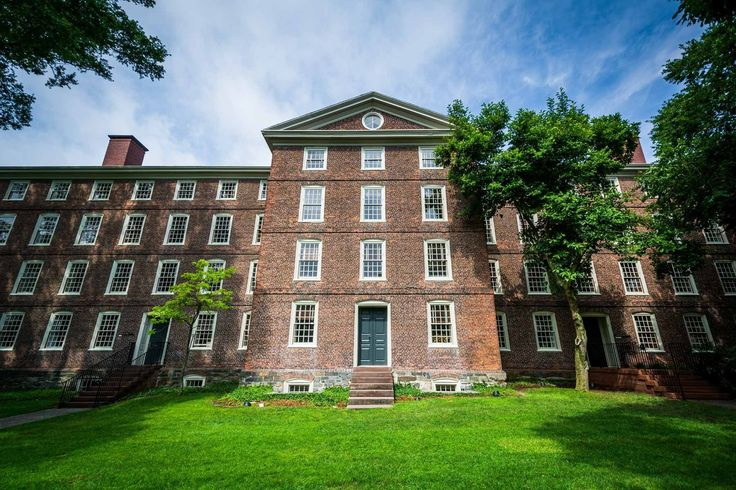University Hall, on the campus of Brown University, in Providence, Rhode Island.