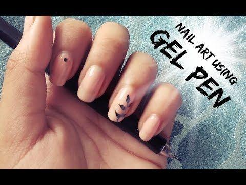 Nail Art Using Gel Pen 1 Minute Nail Art Httpsyoutube
