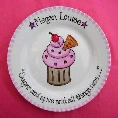 Personalised Birthday Gift Plate - Cupcake