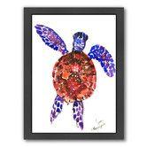 Found it at Wayfair - Sea Turtle 3 Framed Painting Print