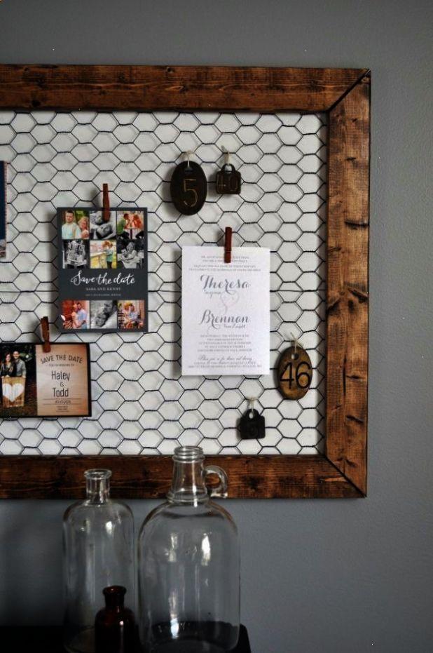 Best DIY Ideas With Chicken Wire - DIY Office Memo Board - Rustic