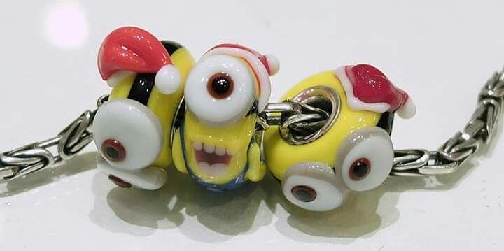 Minios artisan beads di Alessia Fatone in vetro di murano e argento Facebook : Pianeta beads www.gold-jewels-italy.com