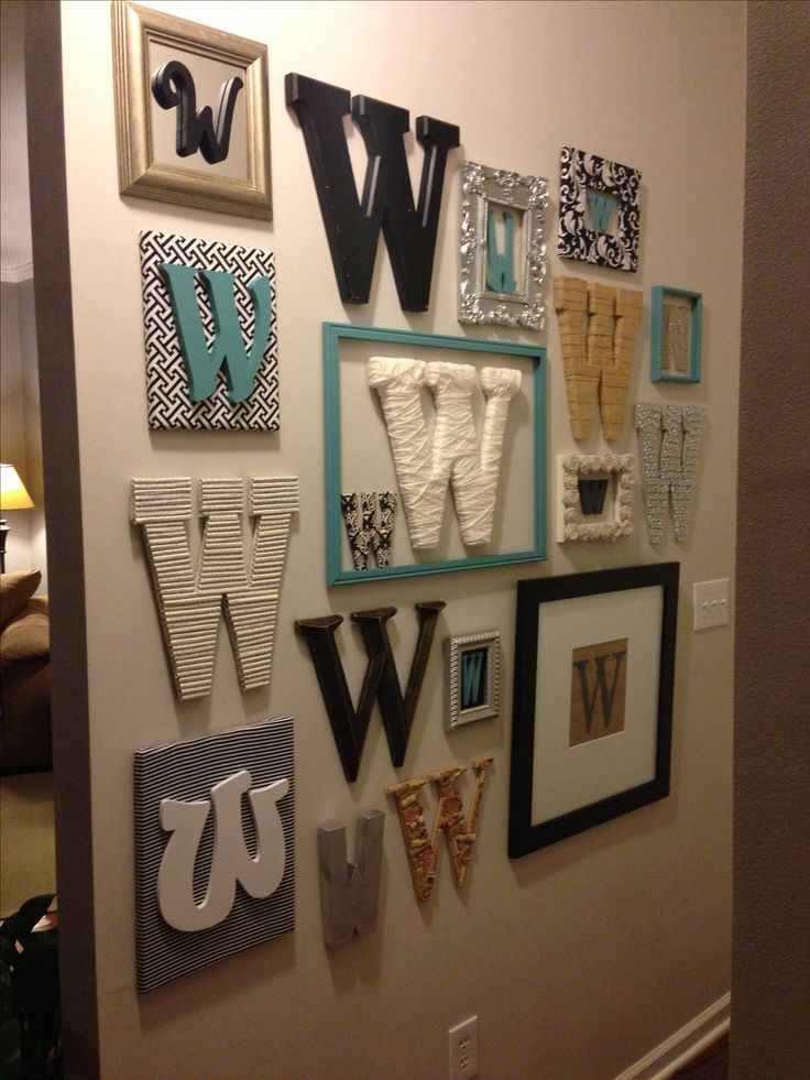 monogram wall decoronly with the letter