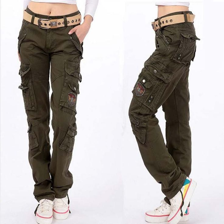 Female Cargo Multi Pockets Loose Pants
