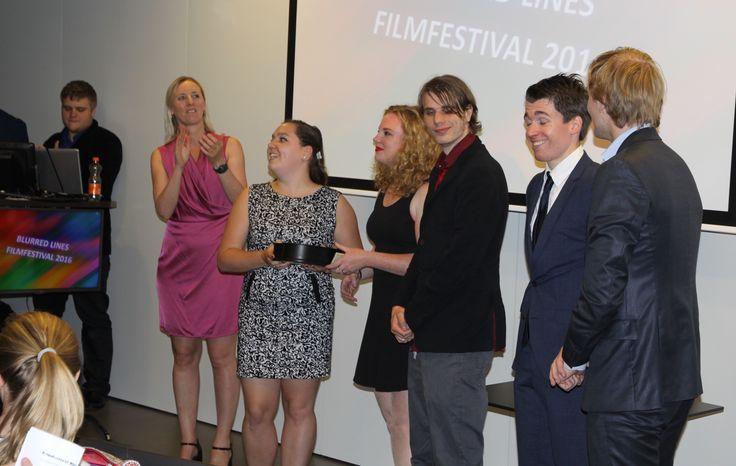 De winnaars op het podium