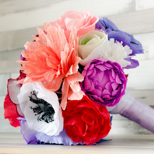 Product ID: BC0022We custom make colorful paper flower bouquets.Paper flower bouquets are very suitable for religious or civil ceremony. Keep forever the memory of the most beautiful moment of your life!All our products are handmade.This bouquet can be done in medium or large size.For prices please send me an email with the product ID at hello@thediywedding.comImpress! Be unique! Be creative!We believe we can help you have the most amazing wedding! Call us!