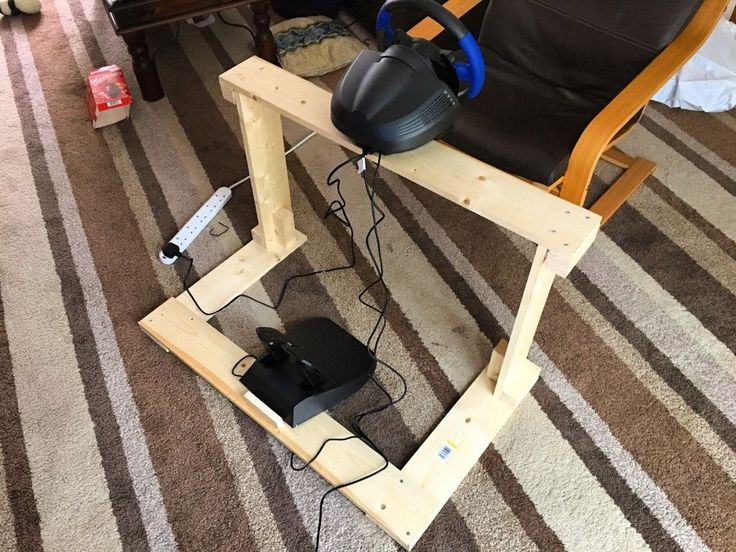 Diy Steering Wheel Stand Diy Arcade Cabinet Restoration