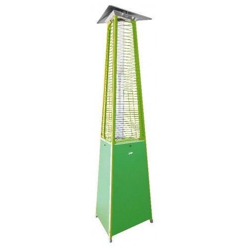 The FALO EVO Green Outdoor Gas Patio Heater By ITALKERO Is Tall And Has A  Large And Stunning Flame, Providing A Contemporary Outdoor Gas Heater For  Patios, ...